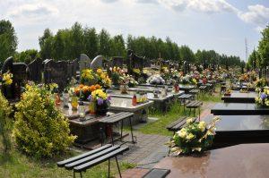cmentarz i kwiaty